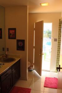 Bath door to pool area